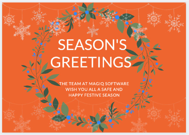 MAGIQ Software Season's Greetings 2020